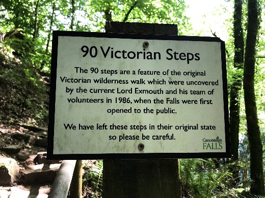 Family Day Out and Walk on Dartmoor at Canonteign Falls Victorian Steps
