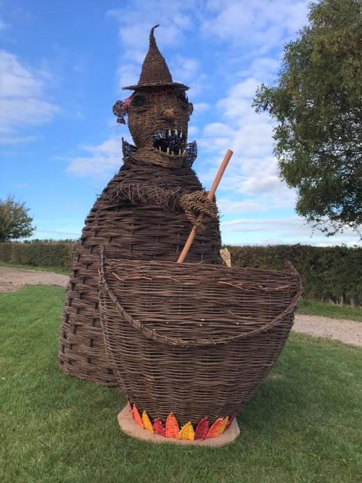 Coates Willow and Wetlands Halloween Trail large willow witch