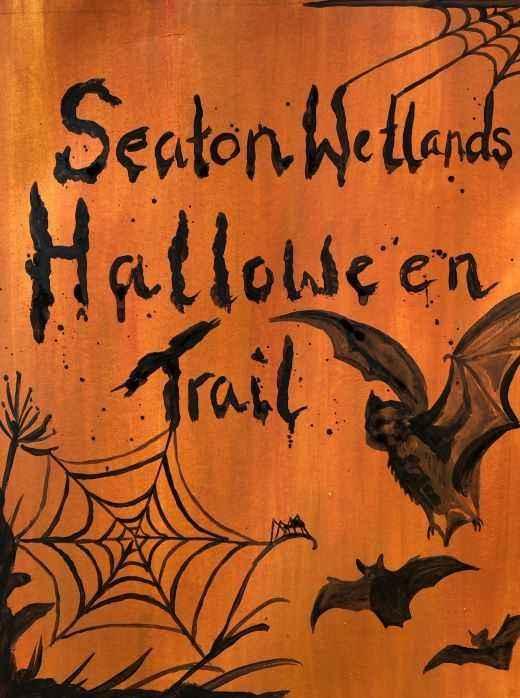 Seaton Wetlands Halloween Trail poster